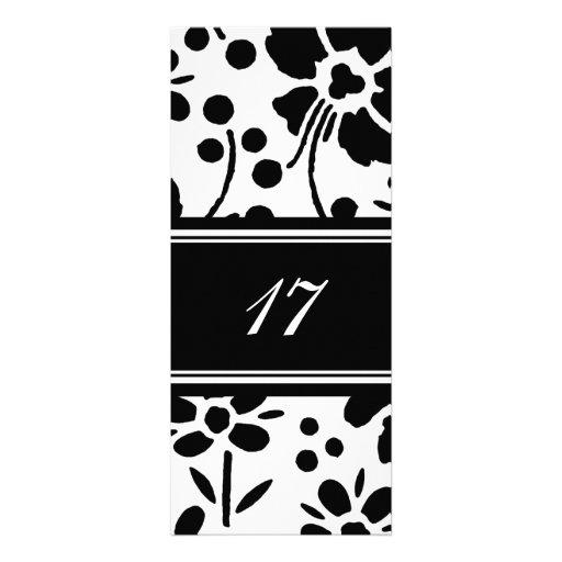 17mas invitaciones florales de la fiesta de cumple comunicados