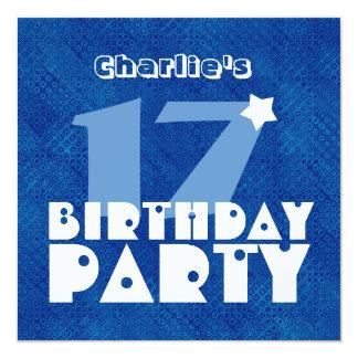 17mo cumpleaños adolescente moderno conocido de invitación 13,3 cm x 13,3cm