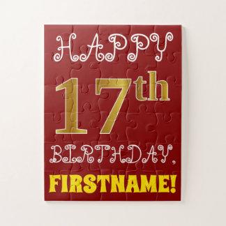 17mo cumpleaños del oro rojo, falso + Rompecabezas