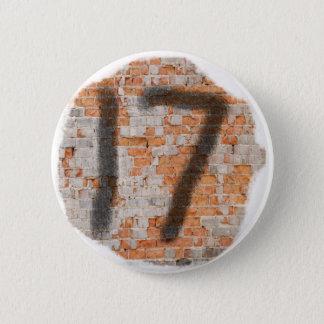 17mos regalos de cumpleaños de la pintada chapa redonda de 5 cm