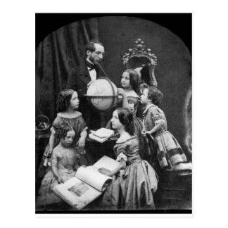 1850 de la lección de la geografía de la familia postales
