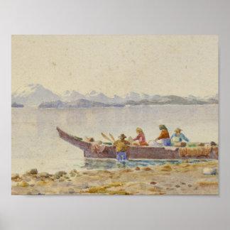 1855-1914) naturales de THEODORE RICHARDSON (que Póster