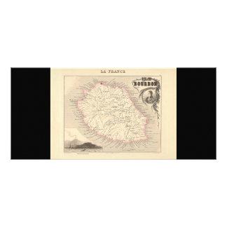 1858 mapa - Ile Borbón reunión del La - Francia Lonas Personalizadas