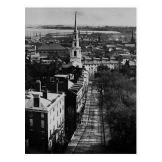 1859:  Una vista de Boston de la casa del estado Postal