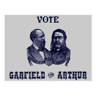 1880 voto Garfield y Arturo Postales
