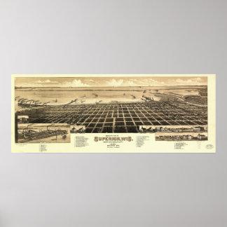 1883 superiores, mapa panorámico de la opinión de  impresiones