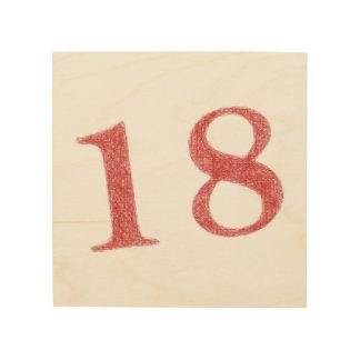 18 años de aniversario impresiones en madera