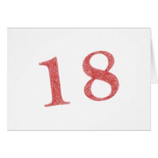 18 años de aniversario tarjeta de felicitación