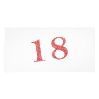 18 años de aniversario tarjeta fotográfica