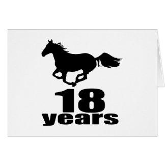 18 años de diseños del cumpleaños tarjeta