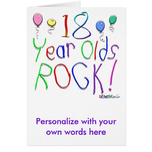¡18 años de la roca! felicitaciones