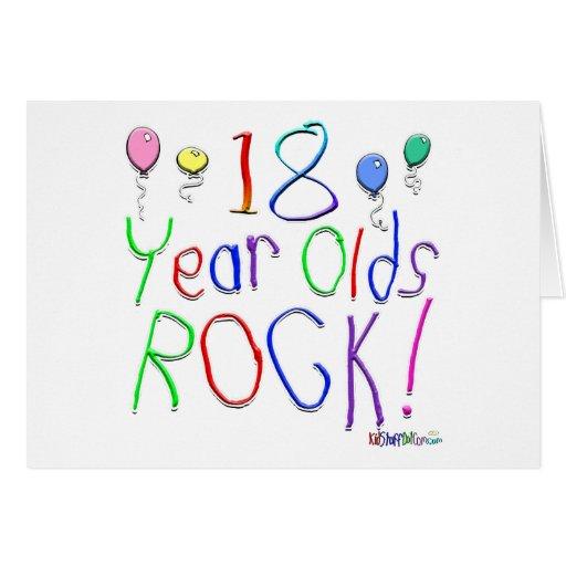 ¡18 años de la roca! felicitacion