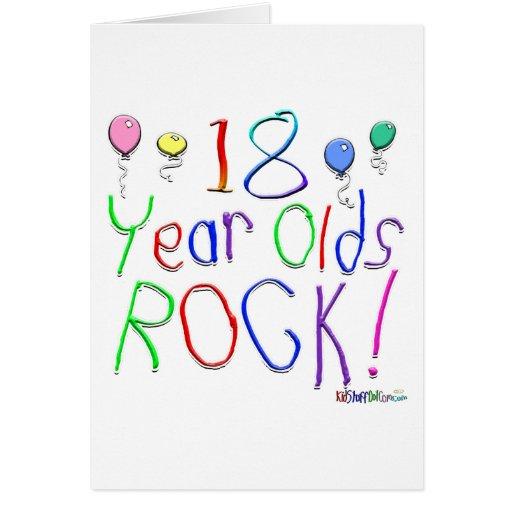 ¡18 años de la roca! Tarjeta de felicitación