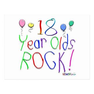 ¡18 años de la roca! postal