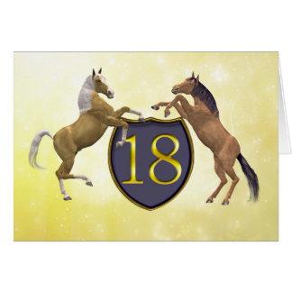 18 años de la tarjeta de cumpleaños con alzar caba