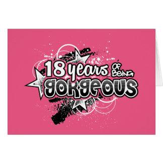 18 años de ser magnífico (décimo octavo tarjeta de felicitación