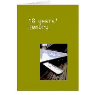 18 años de tarjeta
