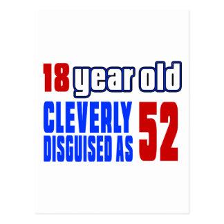 18 años disfrazados listo como 52 postal
