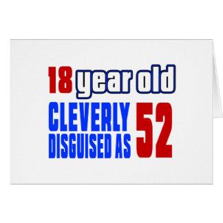 18 años disfrazados listo como 52 tarjeta de felicitación