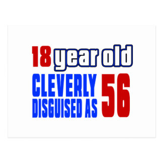 18 años disfrazados listo como 56 postal