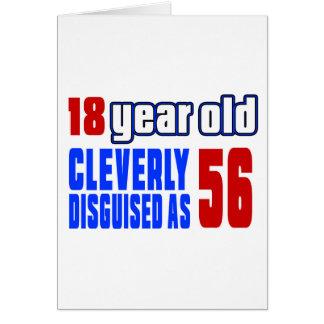18 años disfrazados listo como 56 tarjeta de felicitación