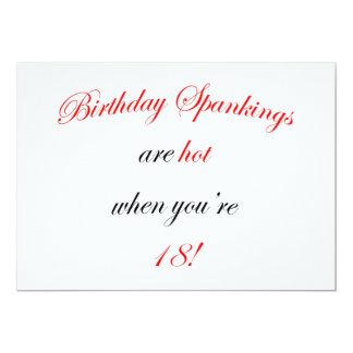 18 azotes del cumpleaños invitación 12,7 x 17,8 cm