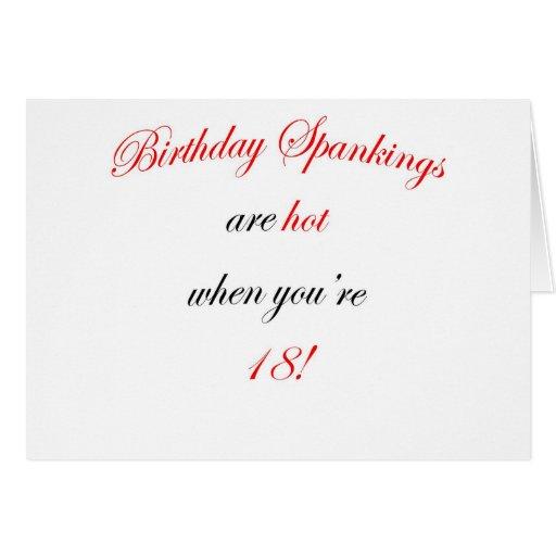 ¡18 azotes del cumpleaños son calientes! felicitación