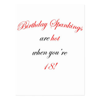 ¡18 azotes del cumpleaños son calientes! postal