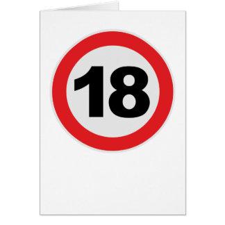 18 Cumpleaños Tarjeta