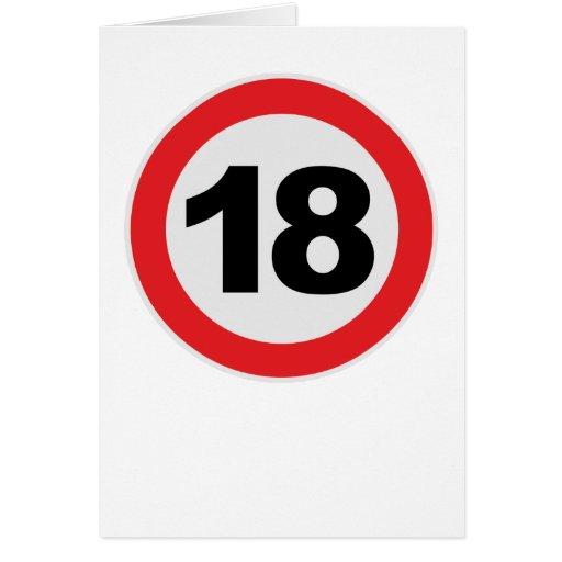 18. Cumpleaños Tarjeta
