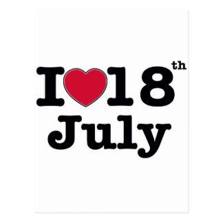 18 de julio mi cumpleaños del día postal