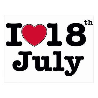 18 de julio mi día de cumpleaños postal
