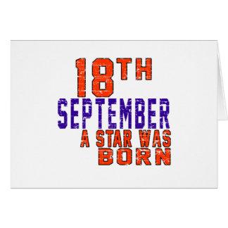 18 de septiembre una estrella nació tarjetas