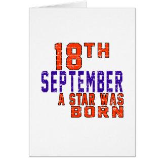 18 de septiembre una estrella nació tarjeta de felicitación