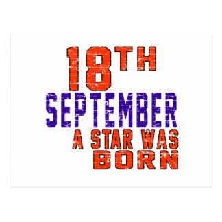 18 de septiembre una estrella nació postal