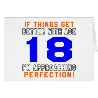 18 diseños del cumpleaños de la perfección tarjeton