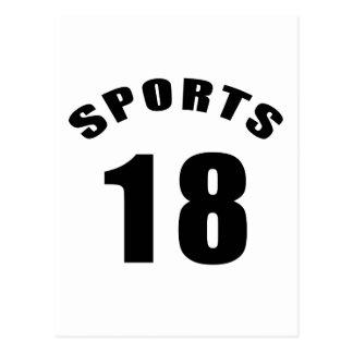 18 diseños del cumpleaños de los deportes postal