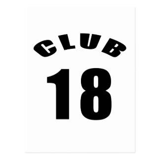 18 diseños del cumpleaños del club postal