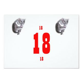 18 gatitos del cumpleaños invitación 12,7 x 17,8 cm
