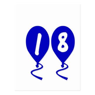 18 globos del cumpleaños postal