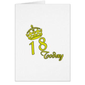 18 hoy. Cumpleaños Tarjeta De Felicitación