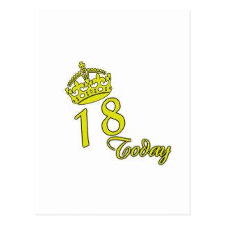 18 hoy. Cumpleaños Postal
