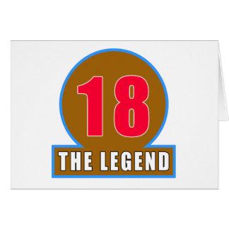 18 los diseños del cumpleaños de la leyenda tarjeton