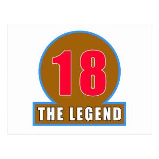 18 los diseños del cumpleaños de la leyenda tarjetas postales