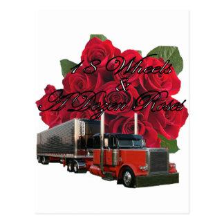 18 ruedas y docena rosas postal