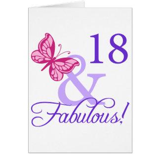 18 y cumpleaños fabuloso felicitaciones