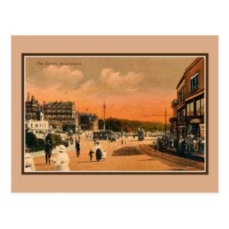 1900s del vintage la Bournemouth cuadrada, tranvía Tarjeta Postal