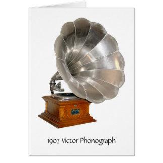 1907 fonógrafo del vencedor, tarjeta de