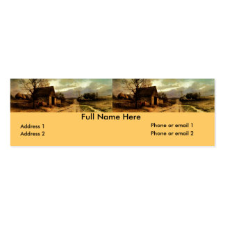 1912) graneros de noviembre Twilight (y señales de Plantilla De Tarjeta De Visita