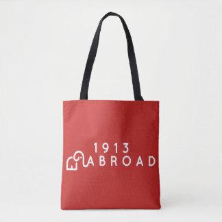 1913 en el extranjero totes rojos medios bolso de tela